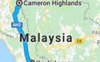 peta dari kl ke cameron highland