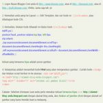 tutorial fixed gambar melayang javascript blogger